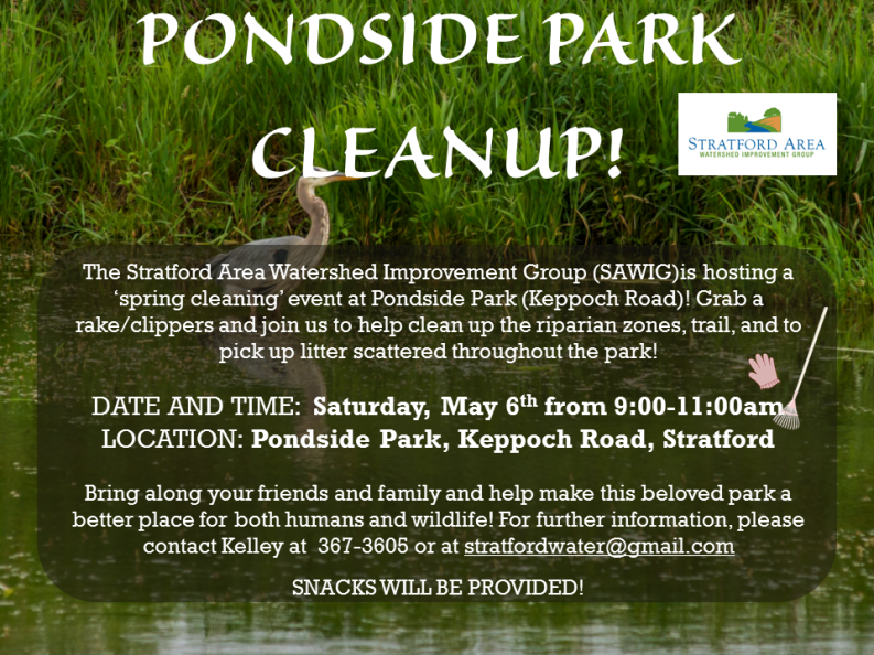 PONDSIDE PARK CLEANUP!